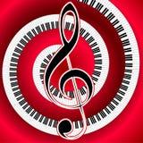 Muzykalny plakat z treble clef Zdjęcie Royalty Free