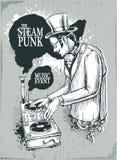 muzykalny plakatowy steampunk Obrazy Royalty Free