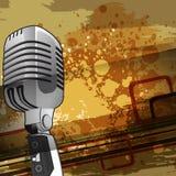 Muzykalny pojęcie z mikrofonem ilustracja wektor