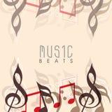 Muzykalny tło z eleganckim tekstem ilustracji