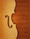 Muzykalny tło z skrzypcowym motywem Zdjęcia Stock