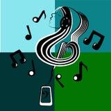 Muzykalny wewnętrzny świat Fotografia Royalty Free