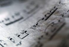 muzykalny wynik Fotografia Royalty Free
