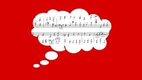 Muzykalny wynik i balon zbiory