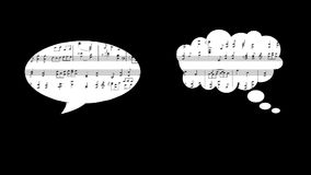 Muzykalny wynik i balon zbiory wideo