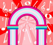 Muzykalnych notatek Archway Obrazy Royalty Free