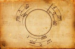 Muzykalnych notatek rama royalty ilustracja