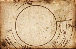 Muzykalnych notatek rama ilustracja wektor