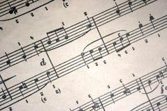 Muzykalnych notatek sztuki skład obraz stock