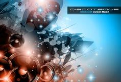 Muzyki Świetlicowy tło dla dyskoteka tana plakatów Obrazy Stock