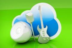 Muzyki chmura royalty ilustracja