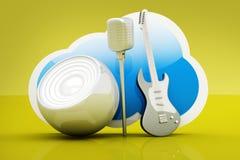 Muzyki chmura ilustracji