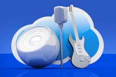 Muzyki chmura ilustracja wektor