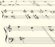 muzyki clef perspektywy Obraz Stock