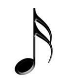 Muzyki czarny notatka royalty ilustracja