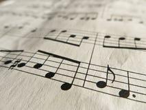 muzyki klasycznej notatek prześcieradło Zdjęcia Royalty Free