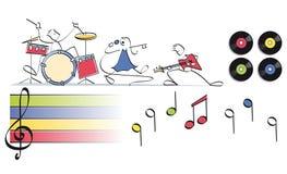 Muzyki śmieszna grupa ilustracji