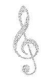 Muzyki notatka Obraz Stock