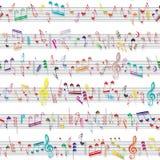 Muzyki notatki dźwięka tekstura Zdjęcia Royalty Free
