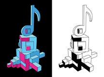 Muzyki notatki doodle plakat royalty ilustracja