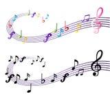 Muzyki notatki projekt Zdjęcie Royalty Free