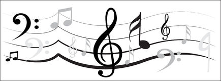 Muzyki notatki projekt royalty ilustracja