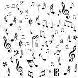 Muzyki notatki strona Obrazy Royalty Free