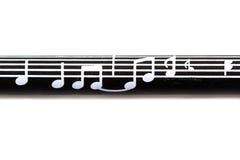 Muzyki notatki wzór Zdjęcia Stock