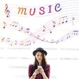 Muzyki Nutowa sztuka Rozsądny Instrumentalny pojęcie Obrazy Royalty Free