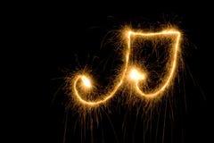 muzyki nutowy sparkler symbol Zdjęcie Stock