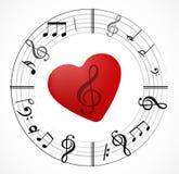 Muzyki nutowy tło z symbolami royalty ilustracja