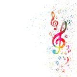 Muzyki nutowy tło Zdjęcie Stock