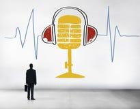 Muzyki Rozsądnej częstotliwości mikrofonu Klasyczny pojęcie Zdjęcia Royalty Free