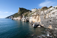 Muzzerone Mountain from Portovenere stock image