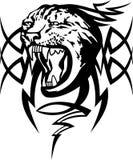 Muzzle. Vector illustration of stylized jaguars tattoo Stock Image