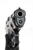 Muzzle on a 9mm Pistol Stock Images