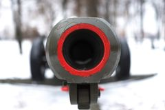 The muzzle of an artillery gun. For any purpose Royalty Free Stock Image