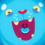 A muzzle of a cute blue monster Royalty Free Stock Photo