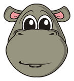 Muzzle gray hippo Royalty Free Stock Photography