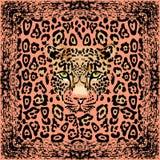 Muzzle leopard pattern Royalty Free Stock Image