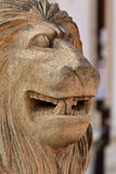Muzzle of a lion from limestone Stock Images