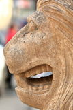 Muzzle of a lion from limestone Royalty Free Stock Photography