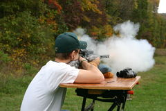 Muzzle Loader shooting Stock Images