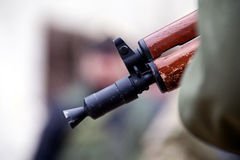 Russian rifle muzzle Stock Images