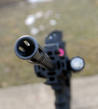 Rifle muzzel. Muzzle of rifle from the business end stock photography