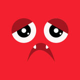 Muzzle sad monster. Royalty Free Stock Photos