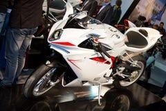 欧亚大陆Moto自行车商展2013年 免版税库存照片