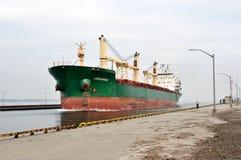 MV进入哈密尔顿港口的Greenwing 免版税库存照片