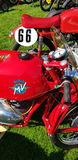 MV Agusta classic motorcycles at the Auto Italia event at Brooklands. Stock Photos