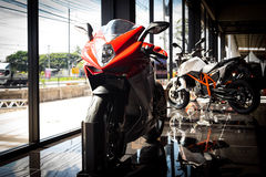 MV Agusta F4. Sport Bike With Background Royalty Free Stock Images